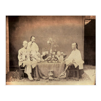 Opium Smokers in China Postcard
