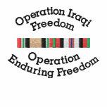 Opn.Iraqi Freedom & Enduring Freedom Ribbons Shirt