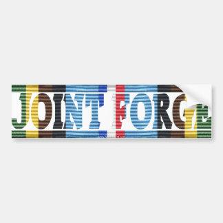 Opn. Joint Forge Yugoslavia AFEM Sticker Car Bumper Sticker
