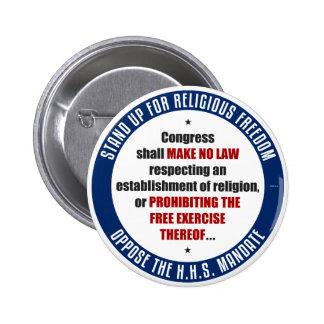 Opóngase al mandato de HHS Pin Redondo De 2 Pulgadas