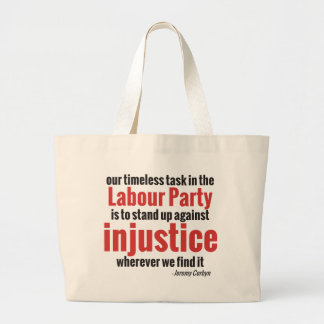 Opóngase contra injusticia bolsa tela grande