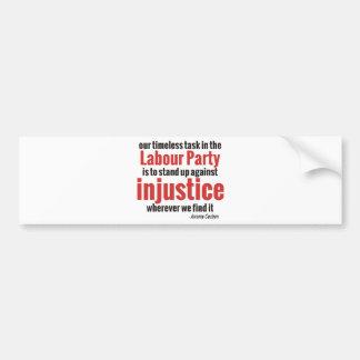 Opóngase contra injusticia pegatina para auto