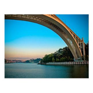 Oporto bridge postcard