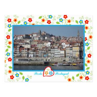 Oporto city near Douro River - Ribeira Postcard