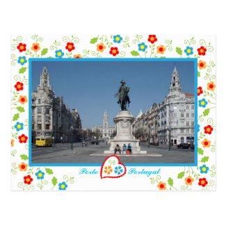 Oporto city view post cards