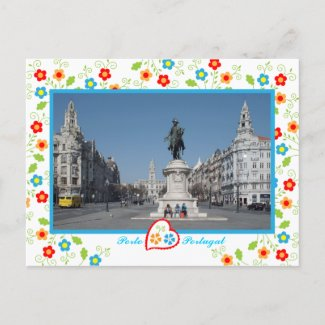Oporto city view zazzle_postcard