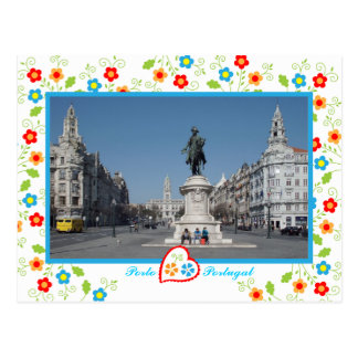 Oporto city view postcard