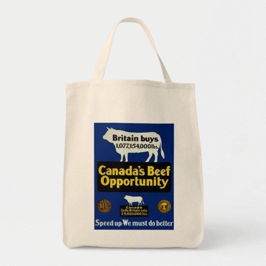 Oportunidad de la carne de vaca de Canadá