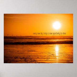 Oportunidad de la salida del sol de la playa póster