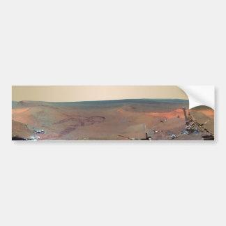 Oportunidad de Marte Rover del panorama del asilo  Pegatina De Parachoque