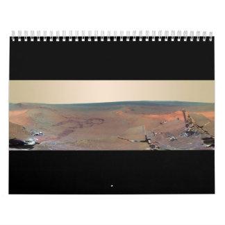 Oportunidad de Marte Rover del panorama del asilo Calendarios De Pared