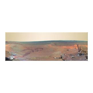 Oportunidad de Marte Rover del panorama del asilo  Lona Estirada Galerías