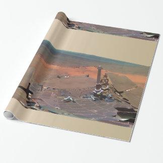 Oportunidad de Marte Rover del panorama del asilo Papel De Regalo