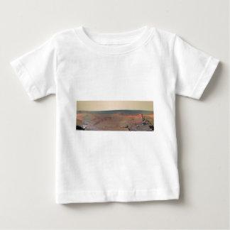 Oportunidad de Marte Rover del panorama del asilo Playera De Bebé