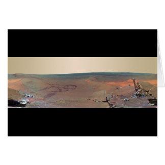 Oportunidad de Marte Rover del panorama del asilo Tarjeta De Felicitación