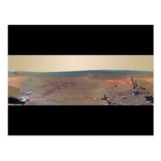 Oportunidad de Marte Rover del panorama del asilo Tarjetas Postales