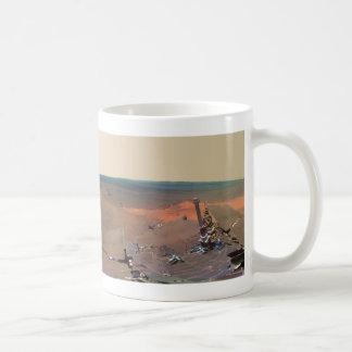Oportunidad de Marte Rover del panorama del asilo  Tazas De Café