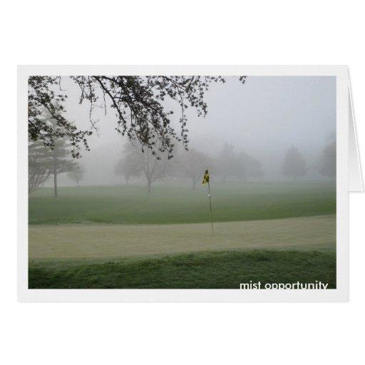 Oportunidad Notecard de la niebla de los golfistas Tarjeta Pequeña