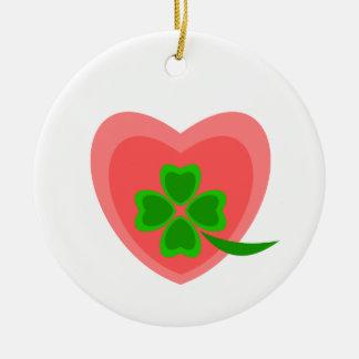 oportunidad para el amor adorno redondo de cerámica