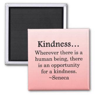 Oportunidad para la amabilidad imán cuadrado