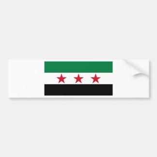 oposición de Siria Etiqueta De Parachoque