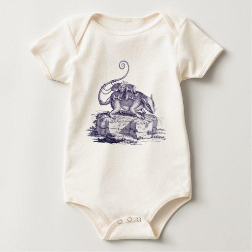 Opossom y bebés - desgaste del bebé de Adorible Enteritos