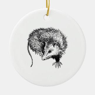 Opossum Ceramic Ornament