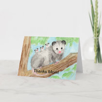 Opossum Mom Card