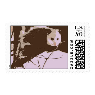 Opossum Pop Art Postage