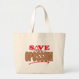 Opossum Save Large Tote Bag