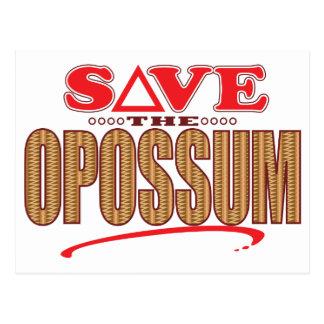 Opossum Save Postcard