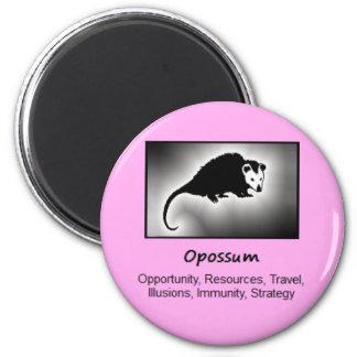 Opossum Totem Animal Spirit Meaning 2 Inch Round Magnet