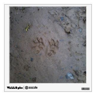 Opossum tracks wall decal