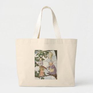Opossums Make Reluctant Students Large Tote Bag