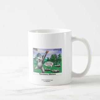 OPossums Playing Dead Cartoon Funny Coffee Mug