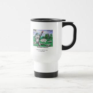 OPossums Playing Dead Cartoon Funny Travel Mug Mug