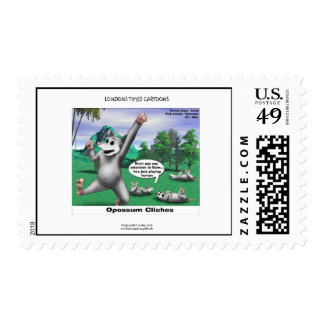 OPossums Playing Dead Funny U.S. Postage Stamps