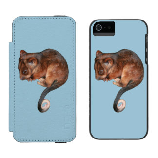 Oposum adorable del Ringtail del bebé en Australia Funda Billetera Para iPhone 5 Watson
