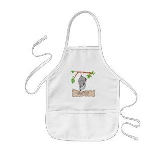 Oposum con la muestra delantal infantil