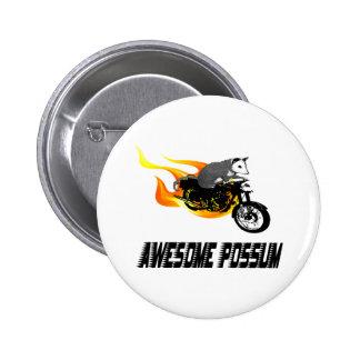 Oposum impresionante del jinete de la bici pin