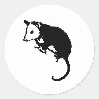 Oposum impresionante del oposum etiquetas redondas