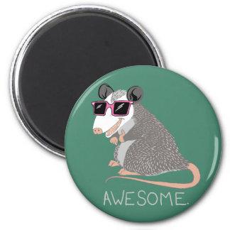 Oposum impresionante divertido imán redondo 5 cm