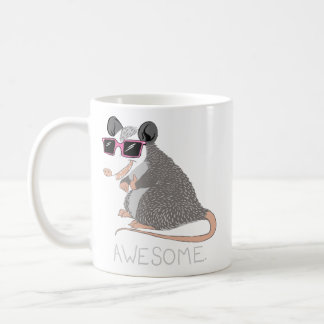 Oposum impresionante divertido taza clásica