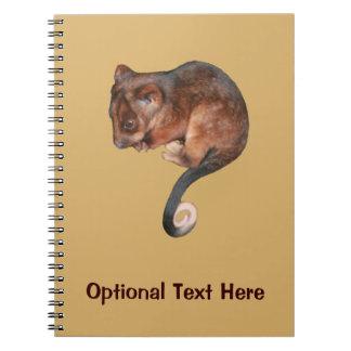 Oposum lindo del Ringtail del bebé Libros De Apuntes Con Espiral