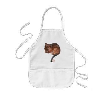 Oposum lindo del Ringtail del bebé Delantal Infantil