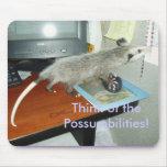 Oposum Mousepad Tapetes De Ratones