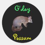 Oposum Pegatina Redonda