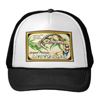 oposum rayado gorros
