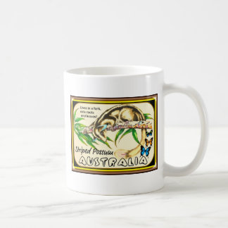 Oposum rayado tazas de café