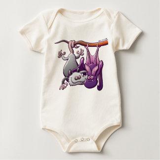 Oposum y palo en amor trajes de bebé